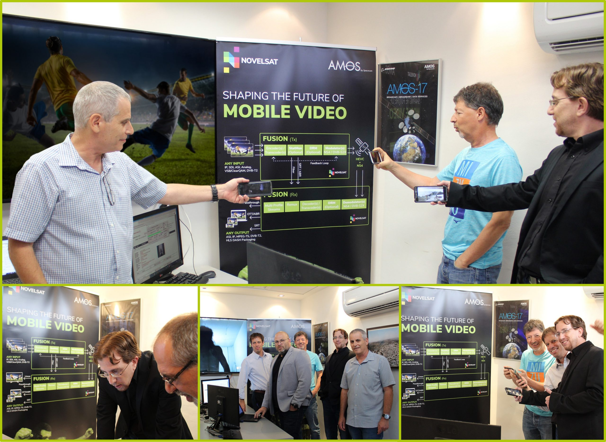 Spacecom and NOVELSAT Demonstrate High-Volume Video Delivery over AMOS-17 Satellite for 5G Networks and Wi-Fi Hotspots